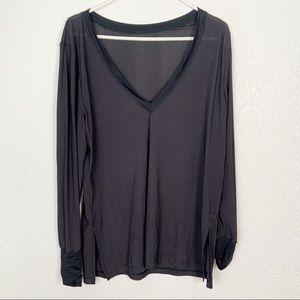 Lululemon Black Long Sleeve Shirt